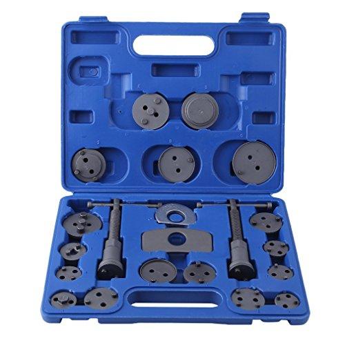Hehilark Bremskolbenrücksteller satz Brake Piston Extractor Kolbenrücksteller Kolben Rücksteller Bremskolben mit 2 Spindeln (22 Teilig)