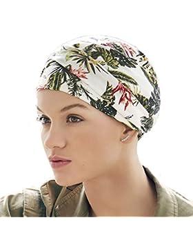 Turbante oncológico de algodón Kamma con estampado Primavera