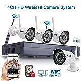 icami ca-8004nw-h14CH HD Plug und Play Wireless NVR Kit P2P 720P HD Outdoor IR-Nacht-Vision Sicherheit IP-Kamera WiFi CCTV System