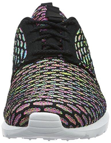 Nike Roshe Nm Flyknit, Baskets Homme Noir (Nero (Black/Black/Pink Pow/Blue Glow)Black/Black/Pink Pow/Blue Glow)