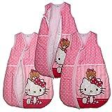 Ganzjahres Schlafsack Hello Kitty Baby-Schlafsack Kinderschlafsack Rosa (104/110, Rosa)