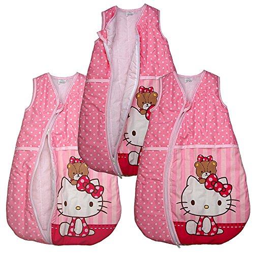 Ganzjahres Schlafsack Hello Kitty Baby-Schlafsack Kinderschlafsack Rosa (68/74, Rosa) (Schlafsack Hello Kitty)