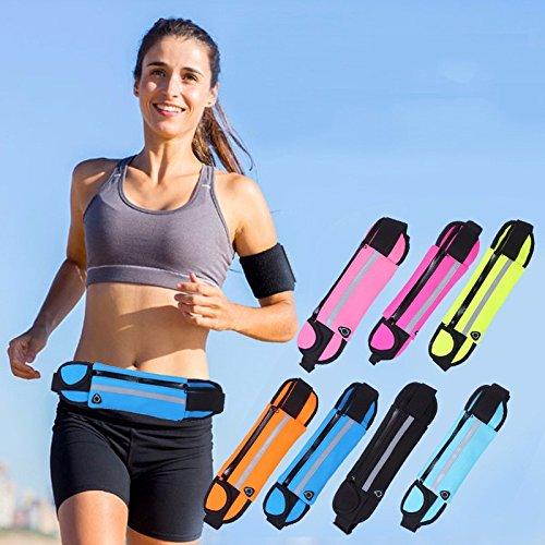 Gli Sport All'Aperto La Borsa, Impermeabile Borsa, Hip Borsa, Viaggi Cellulare Borsa,Grande Fan Di Colore deep blue