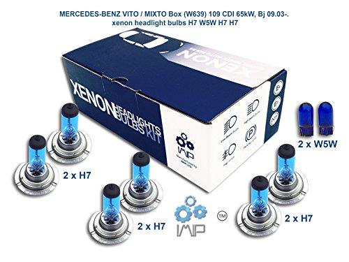 Ampoules de phares xénon lumineux| DIY, Kit simple d'utilisation | Compatible H7,H7,H7 Plus ampoules éclairage latéral gratuites W5W
