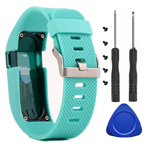 Für Fitbit Charge HR Bands, T-BLUER Ersatz-Silikon-Bänder Straps für Fitbit Charge HR Watch Fitness Tracker Uhrenarmband-Armband-Zubehör Large,nicht fit Fitbit Charge, Fitbit Charge 2