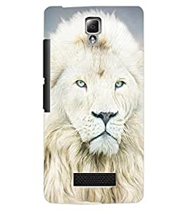 ColourCraft Lion Look Design Back Case Cover for LENOVO A2010