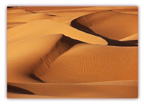 XXL Poster 100 x 70cm (F-226) Sahara Wüste mit imposanten Dünen und Unmengen windgezeichnetem Sand (Lieferung gerollt!)
