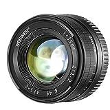 Neewer Obiettivo Prime a Lunghezza Focale Fissa 35mm F1.2 APS-C Apertura Larga in Alluminio,Compatibile con Fotocamere Mirrorless E-Mount Sony serie A6,serie NEX
