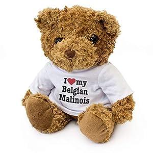 London Teddy Bears I Love My Belgian Malinois - Oso de Peluche - Bonito y Suave Peluche - Regalo de cumpleaños para Perro