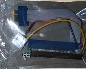 PCI-E PCI Express 16X to 1X Adapter Converter Riser Card Extender Flexible Extension Cable w/ Molex 4 Pin Power Connector