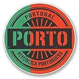 2 x 25cm/250 mm Porto Portugal Autocollant de fenêtre en verre Voiture Van Locations #6112