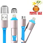 High Speed M2M USB 3.1 Type C To USB Male Cable (Apple + Micro USB) Reversible For New Apple Macbook 12 2015 Nokia N1 Tablet Google New Chromebook Pixel One Plus 2 Xiaomi Mi4C Color: Sky Blue Type A Male to Reversible Type-C Male Charge & Sync Ca...