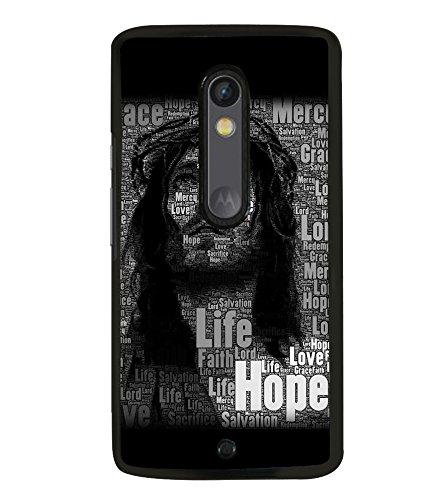 Fuson Designer Back Case Cover for Motorola Moto X Play (Jesus Church Etymology Emmanuel Christ)