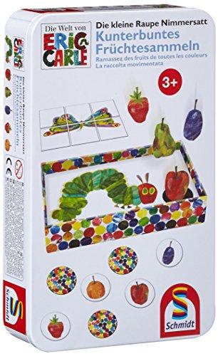 Reise-spiele, Kinder (Schmidt Spiele 51237 - Die kleine Raupe Nimmersatt, Kunterbuntes Früchtesammeln)