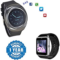 Drumstone S600 Wearable SmartWatch With Gt08 Bluetooth Smart Watch With Camera and Sim Card support Compatible with Xiaomi, Lenovo, Apple, Samsung, Sony, Oppo, Gionee, Vivo Smartphones (1 Year Warranty)