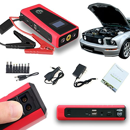Indigi® Mobile Auto Notfall Jump Starter Benzin oder Diesel Power Bank Handy Laptop Wandern Camping Travel Kit Mobile Travel Kit