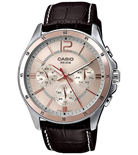 Casio Enticer Analog Pink Dial Men's Watch - MTP-1374L-9AVDF (A956)