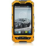 4 Zoll IP67 Wasserdicht 3G Rugged Android 4.2 Smartphone 1.2GHz Dual-Core-Dual-SIM-staubdichte Shockproof kapazitiver Schirm GPS 5MP A8 (gelb)