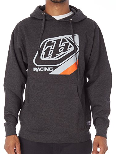 Troy Lee Designs Hoody Precision Grau Gr. L (Logo Troy Designs Lee)