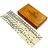 Zdada Double-Six Domino Tiles Set,Classic Numbers Dominos Game for The People of All Ages
