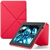 """Amazon - Étui Origami avec support pour Kindle Fire HD 7"""" - Polyuréthane - Rose (est compatible avec le nouveau Kindle Fire HD 7"""" uniquement)"""