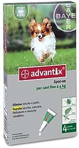 Advantix Spot-on per Cani fino a 4 Kg - 4 pipette da 0.4ml
