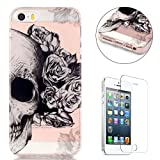 CaseHome Compatible for iPhone SE/5S/5 Coque Silicone de Gel [Gratuit Protections...