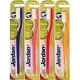 Jordan Classic Medium Toothbrush-Pack of 4 (Color May Vary)