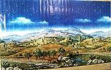 Krippenhintergrund Berge aus Papier. F�r orientalische Krippe. 70x125 cm.