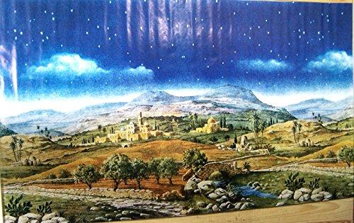 Krippenhintergrund Berge aus Papier. Für orientalische Krippe. 70x125 cm.