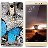 Xiaomi Redmi Note 3 Pro Prime Special Edition case, Heyqie(TM) Thin Transparent TPU Silicone Butterfly Pattern Soft Back Phone Cover Case For Xiaomi Redmi Note 3 Pro Prime Special Edition 152 mm