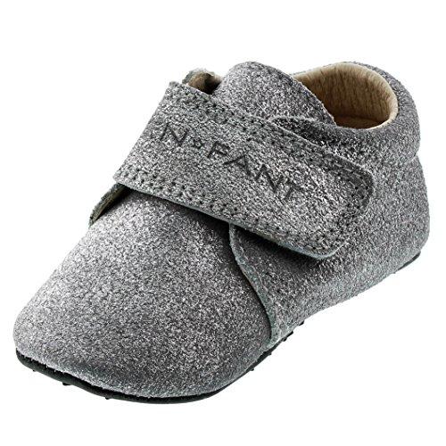 EnFant bébé mixte, chaussures souples / chaussons à scratch, cuir 01 Silver