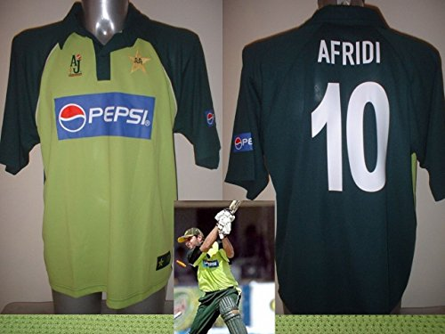 Pakistan Afridi Erwachsene groß AJ Sports bnwot World Cup Cricket Shirt Jersey New -