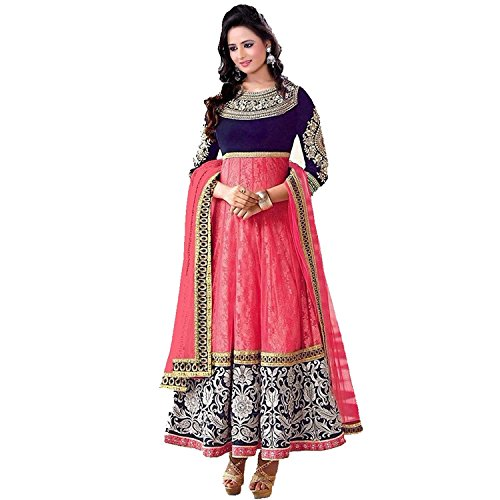 Sanjana Women\'s Georgette Semi Stitched Anarkali Suit