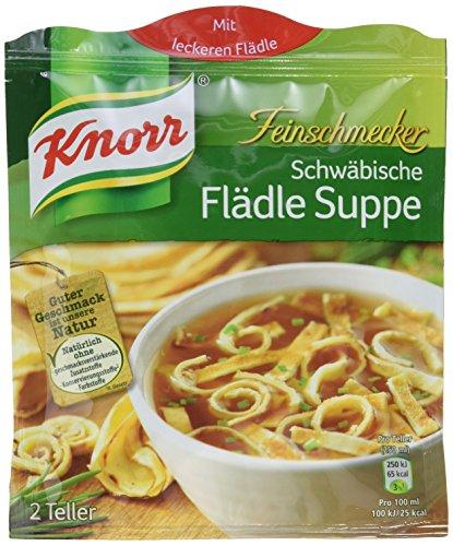 Knorr Feinschmecker Schwäbische Flädle Suppe, 8 x 2 Teller (8 x 34 g)