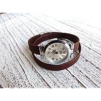 Armbanduhr Damen zum Wickeln vegan Kork in braun, Geschenk