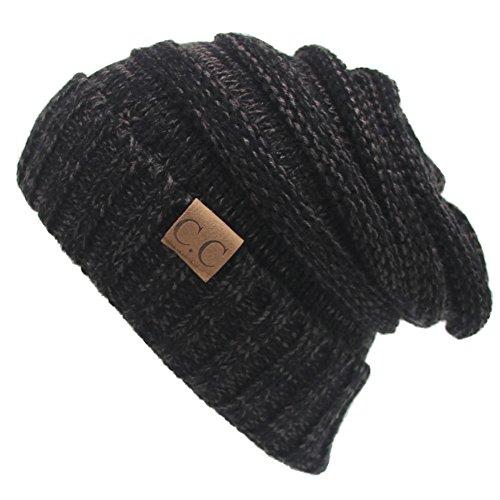 Kuyou Unisex Cappello invernale Sci Snowboard Berretto Beanie Hat (Grigio Fumè)