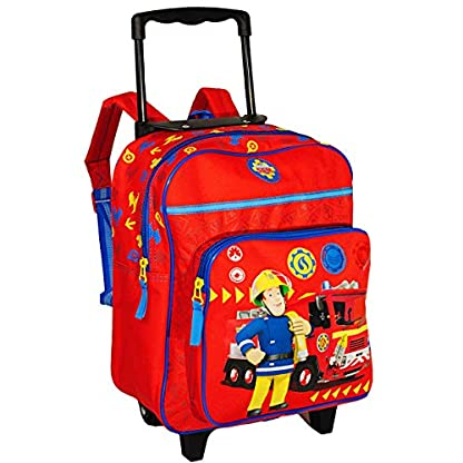 alles-meinede-GmbH-2-in-1–Kinder-Trolley-Rucksack-Feuerwehrmann-Sam-Jones-wasserabweisend-beschichtet-fr-Mdchen-Jungen-Trolly-mit-Rollen-Kindertrolley