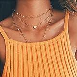 Yolandabecool, collana da donna, alla moda, multistrato, affascinante, ottima idea regalo H