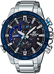 Casio Men's Black Dial Stainless Steel Band Watch - EQB-800DB-