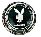 Glasaschenbecher | Playboy | Mini | Farbe schwarz | 1 Playboyhase
