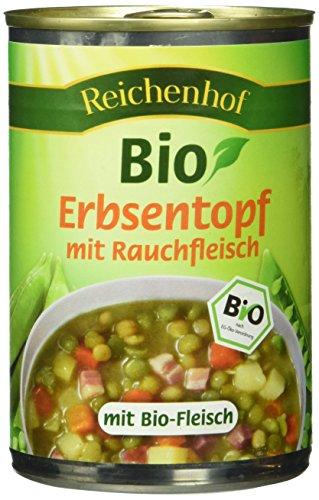 Reichenhof Bio Erbsen-Eintopf mit Rauchfleisch, 6er Pack (6 x 400 g)