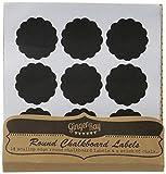 Ginger Ray Wiederverwendbare Runden Schwarzen Brett Aufkleber Etiketten 18 x mit Kreide - Jam Jar Blackboard