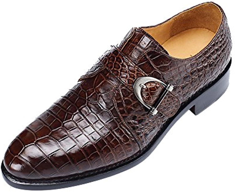 DHFUD Zapatos De Cuero De Corte Bajo De Los Hombres Zapatos Clásicos De La Boda del Negocio