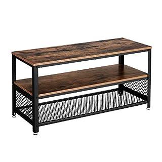 VASAGLE Meuble TV Vintage, Table Basse, Table de Salon, Armature métallique, Texture Bois, pour Chambre, Salon LTV40BX