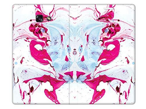 etuo Samsung Galaxy A5 (2017) - Hülle, Handy Flip Case Flex Book Fantastic - Rosa Marmor