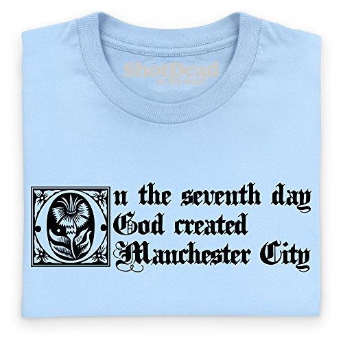 Manchester City Seventh Day T-Shirt, Herren Himmelblau