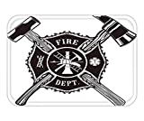 Doormat Firefighter Cross Axe and Sledge Hammer 15.7X23.6 Inches/40X60cm