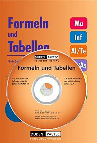 Das elektronische Tafelwerk. Formeln und Tabellen für die Sekundarstufen I und II. Inkl. Mathcad-Explorer 8.02
