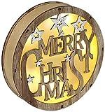 Heitmann Deco LED-Dekoration zum Aufhängen oder Hinstellen - Schriftzug Merry Christmas mit LED-Beleuchtung - stimmungsvolle Weihnachtsdeko